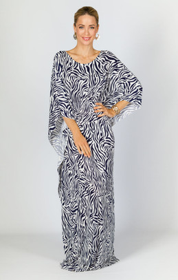 Luna Maxi Dress - Navy Zebra