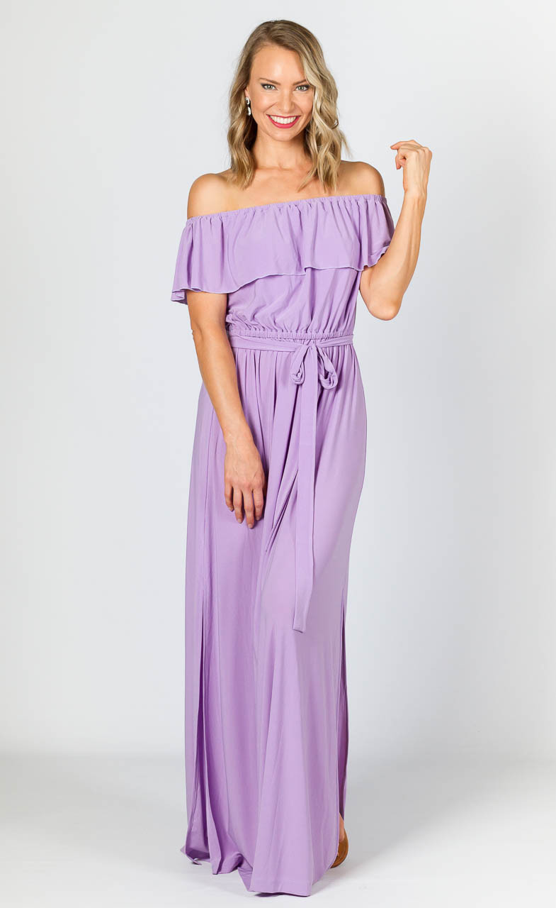 c70b32d235a30 Belle Maxi Dress - Lilac - P.S. Frocks