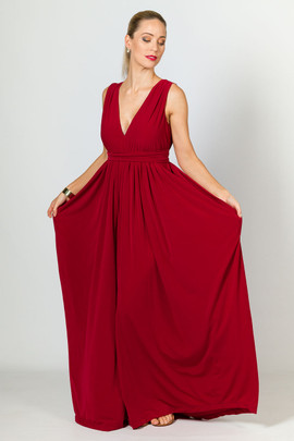 Aphrodite Maxi Dress - Sangria