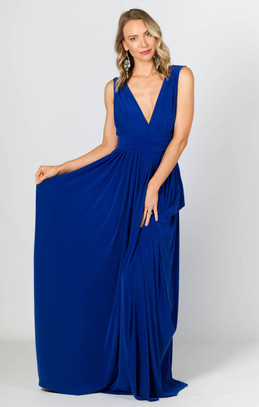 Aphrodite Maxi Dress - Cobalt