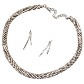 Rhinestone Rope Necklace
