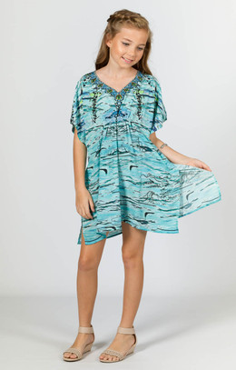 Allina Girls Embellished Kaftan