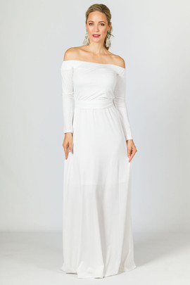 Mila Maxi Dress - White