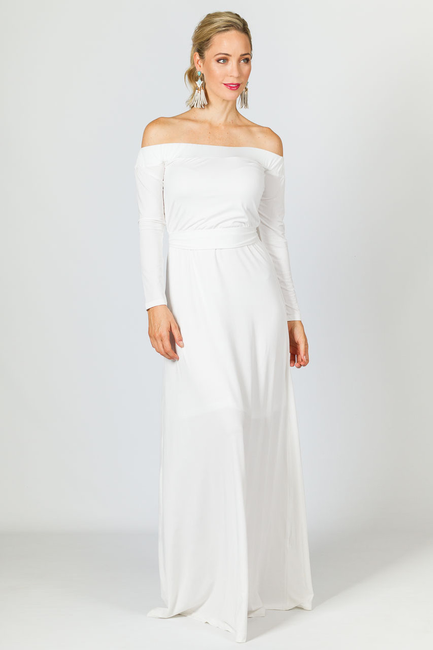 b5b8c9246156 Mila Maxi Dress - White - P.S. Frocks