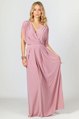 Batwing Style Maxi Dress - Dusty Pink