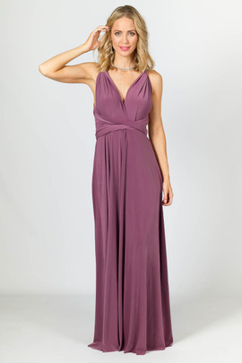Multi Way Wrap Maxi Dress - Eggplant