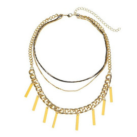 Triple Strand Gold Necklace