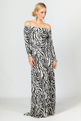 Mila Maxi Dress - Zebra
