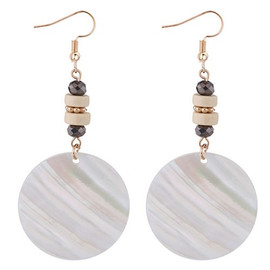 Round Seashell Earrings