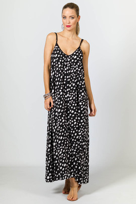 Rio Maxi Dress - White Dot