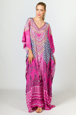 Elise Embellished Kaftan - Long