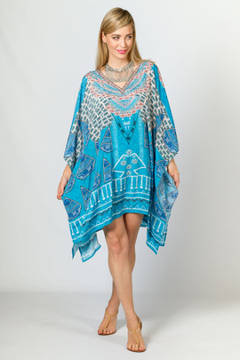 Angelique Embellished Kaftan - Short