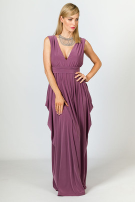 Aphrodite Maxi Dress - Eggplant