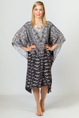 Ingrid Embellished Kaftan - Knee