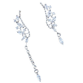 Asymmetric Diamond Earrings