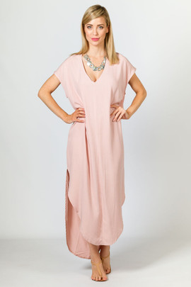 Jaya Maxi Dress - Dusty Pink