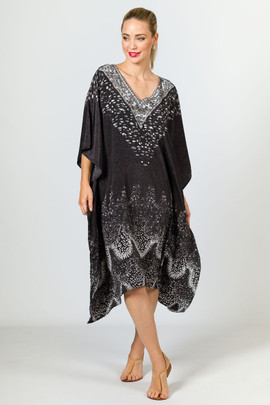 Lucia Embellished Kaftan - Knee Length