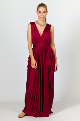Aphrodite Luxe Maxi Dress - Burgundy