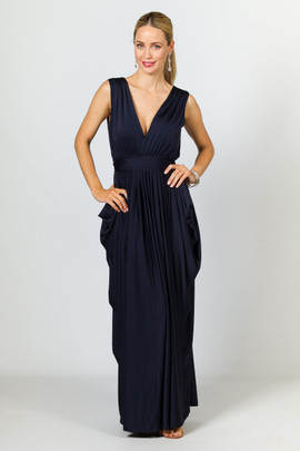 Aphrodite Luxe Maxi Dress - Navy