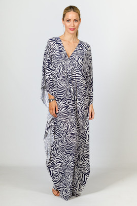 Keira Maxi Dress - Navy Zebra
