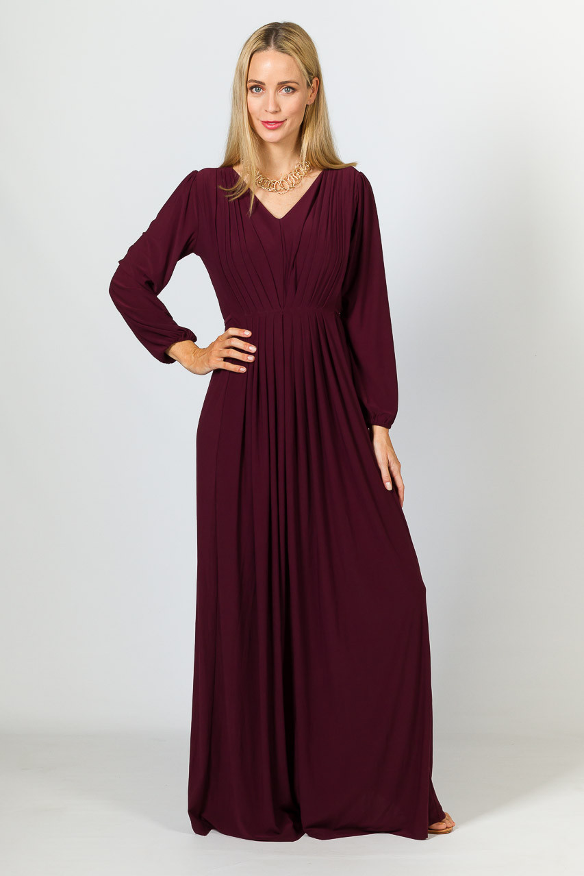 5589a9bba74b Home · Maxi Dresses; Florence Maxi Dress - Mulberry. Gallery Loading