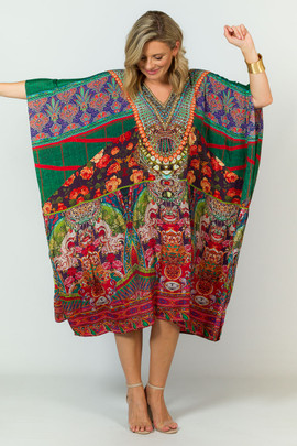 Cara Embellished Kaftan - Knee Length