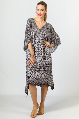 Alegra Embellished Kaftan - Knee Length