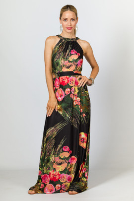 Milly Maxi Dress - Pink Floral