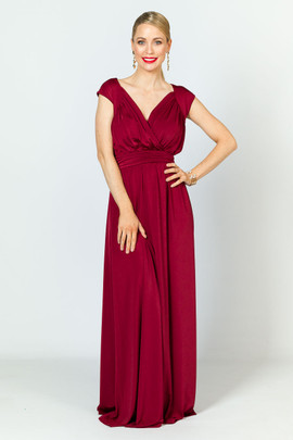 Mackenzie Luxe Maxi Dress - Burgundy