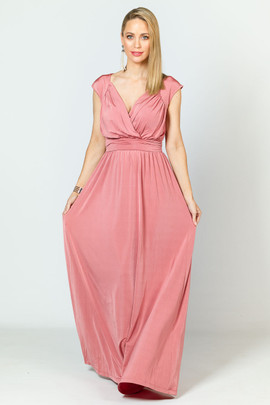 Mackenzie Luxe Maxi Dress - Rose