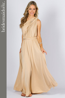 Bridesmaids Etc. Multi Way Wrap Maxi - Champagne