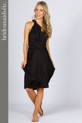 Bridesmaids Etc. Multi Way Wrap Midi - Black