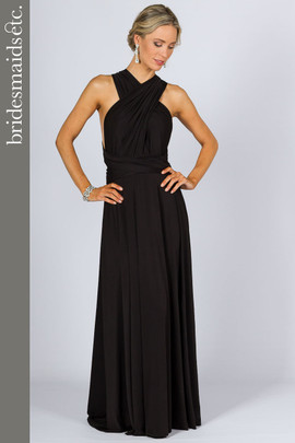 Bridesmaids Etc. Multi Way Wrap Maxi - Black