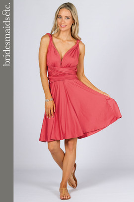 Bridesmaids Etc. Multi Way Wrap Midi - Watermelon