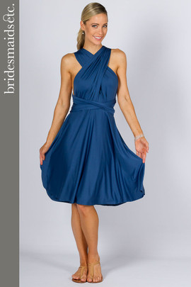 Bridesmaids Etc. Multi Way Wrap Midi - Teal