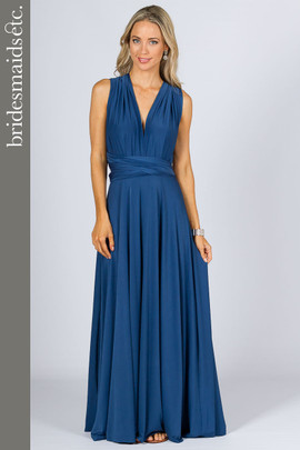 Bridesmaids Etc. Multi Way Wrap Maxi - Teal