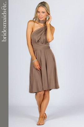 Bridesmaids Etc. Multi Way Wrap Midi - Mocha