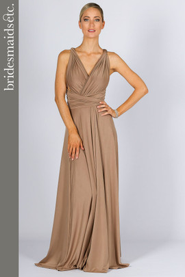 Bridesmaids Etc. Multi Way Wrap Maxi - Mocha