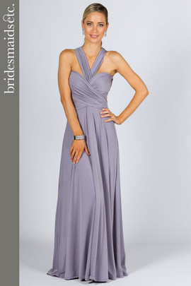 Bridesmaids Etc. Multi Way Wrap Maxi - Periwinkle