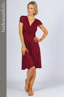 Bridesmaids Etc. Multi Way Wrap Midi - Burgundy