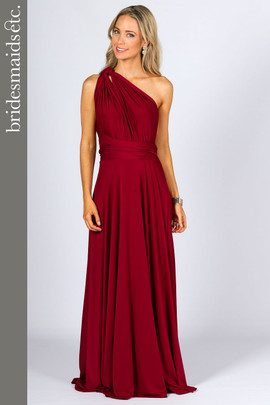 Bridesmaids ETC Multi Way Wrap Maxi - Burgundy