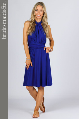 Bridesmaids Etc. Multi Way Wrap Midi - Cobalt