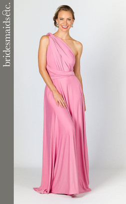 Bridesmaids Etc. Multi Way Wrap Maxi - Pink