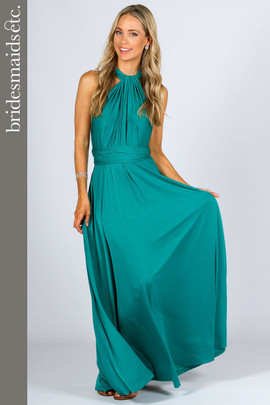Bridesmaids Etc. Multi Way Wrap Maxi - Jade