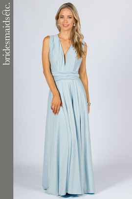 Bridesmaids Etc. Multi Way Wrap Maxi - Sky Blue