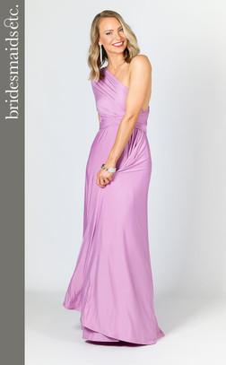 Bridesmaids Etc. Multi Way Wrap Maxi - Lilac