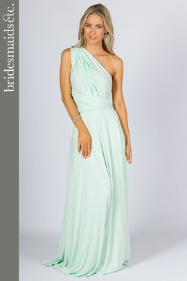 Bridesmaids Etc. Multi Way Wrap Maxi - Mint