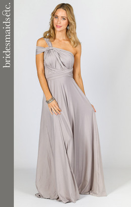 Bridesmaids Etc. Multi Way Wrap Maxi - Silver