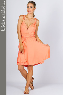 Bridesmaids Etc. Multi Way Wrap Midi - Peach