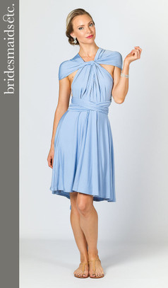 Bridesmaids Etc. Multi Way Wrap Midi - Powder Blue